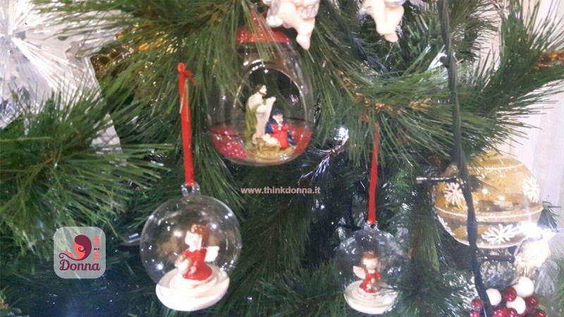 decorazioni natalizie albero natale vetro rosso bianco