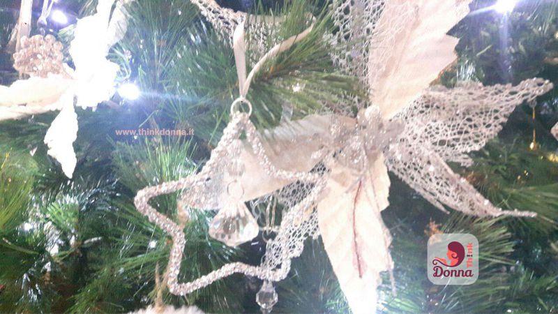 decorazioni natalizie albero natale argento vetro bianco