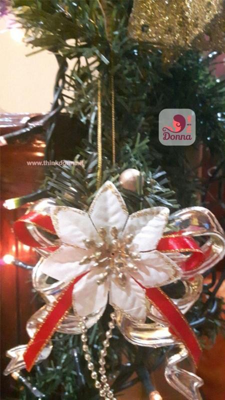 decorazione Natale rosso oro luci