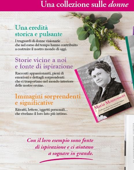 Grandi donne tenaci creative coraggiose | Biblioteca delle donne collezione libri Maria Montessori
