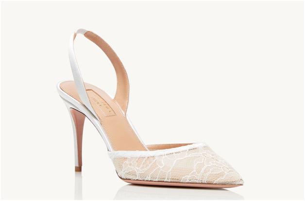 scarpa tacco bianca sposa pizzo