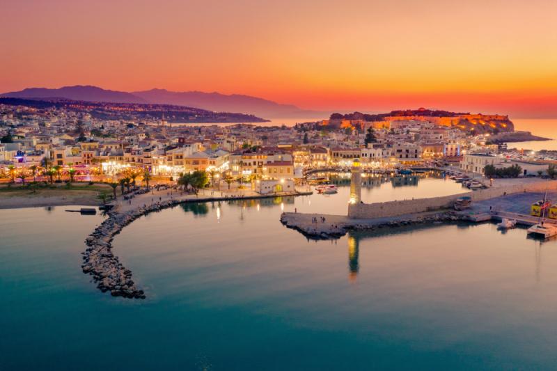mare porto tramonto Creta