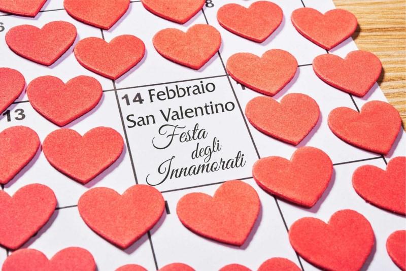 14 febbraio San Valentino cuori festa degli innamorati