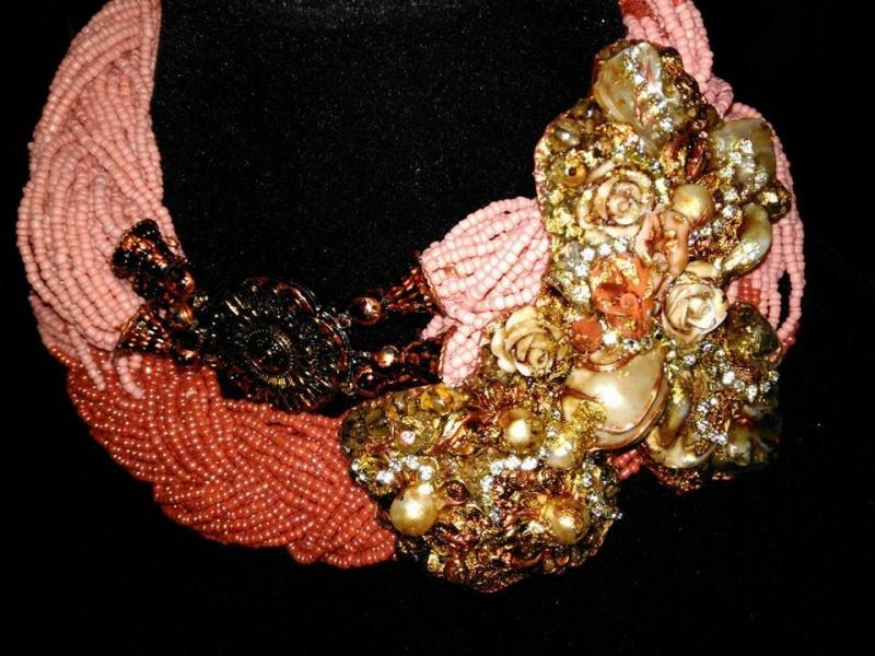 Marina Corazziari a Altaroma collier Gioielli Scultura - Unique Jewels handmade
