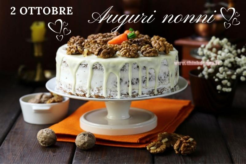 torta di carote e noci con crema al mascarpone 2 ottobre auguri nonni