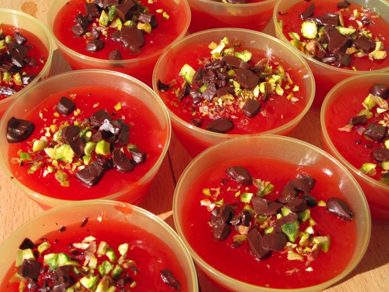 gelo di anguria melone gelu ri muluni dessert dolce siciliano coppette