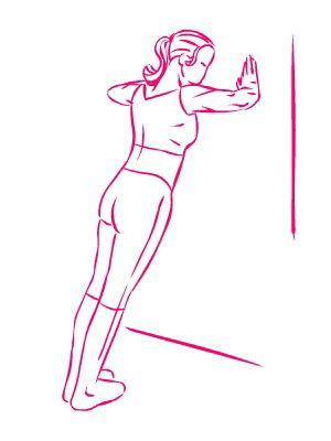 esercizio seno flessioni sul muro