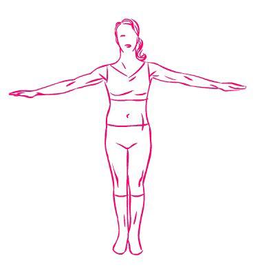 esercizio seno braccia aperte piccoli cerchi