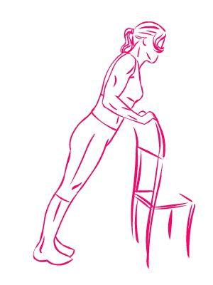 esercizio seno flessioni sedia