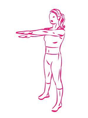 esercizio seno movimetnto braccia a forbice