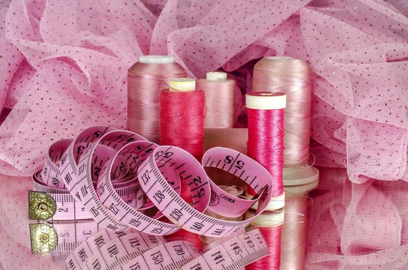 tessuto tulle metro da sarta rosa bobine filo per cucire