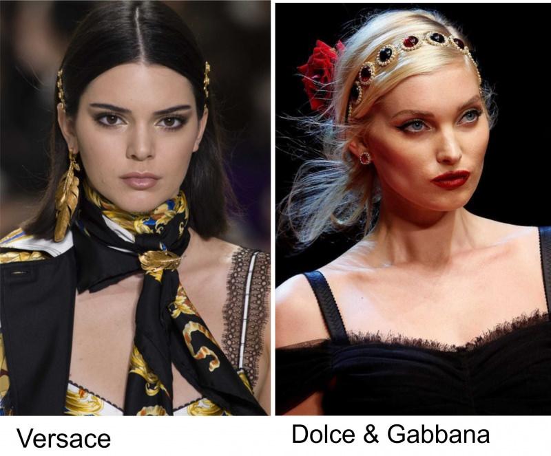 Gli accessori moda, le tendenze principali della prossima stagione primavera estate 2018 Versace Dolce & Gabbana