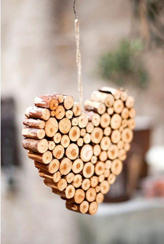 cuore legno Albero di Natale in stile scandinavo | Decorazioni natalizie nordiche