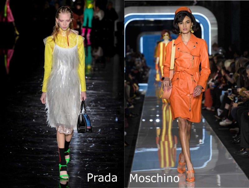 Moda donna cosa comprare per rinnovare il guardaroba autunno inverno abito frange argento maglia gialla Prada trench arancione Moschino