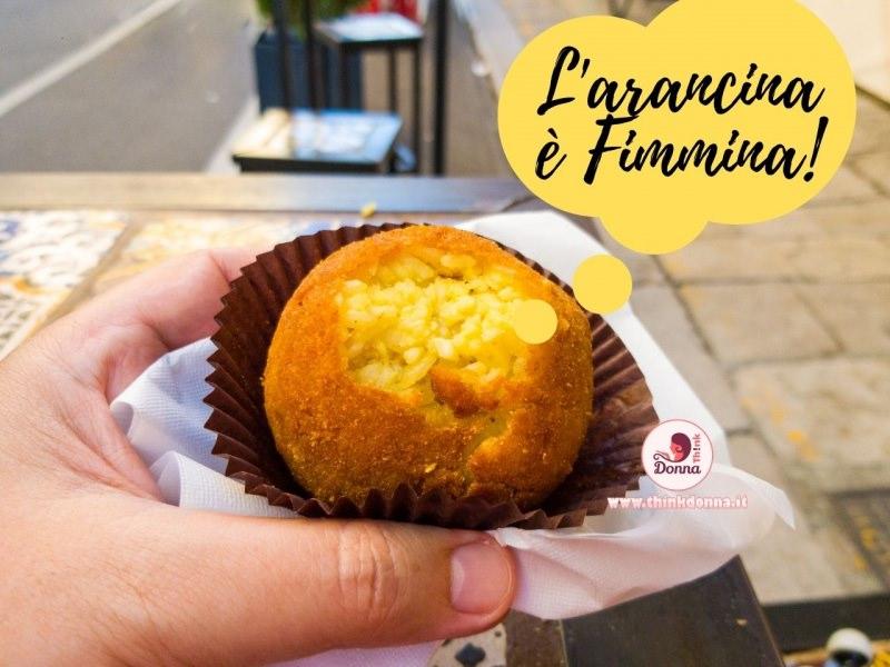 arancina è fimmina no arancino street food riso mano