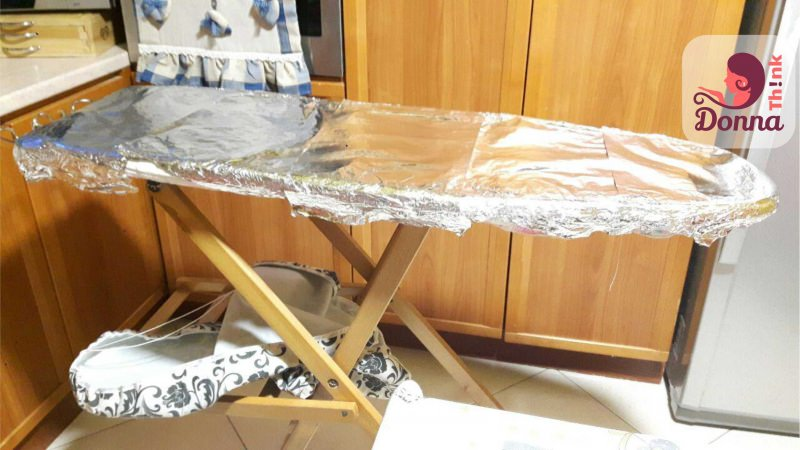asse da stiro fogli alluminio copriasse cucina