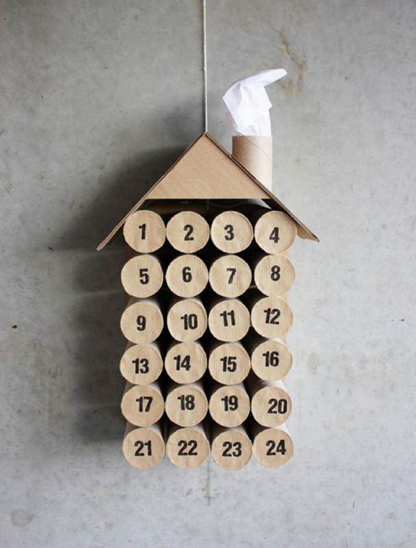 Quanto manca a Natale? Prepara il Calendario dell'Avvento fai da te e inizia il conto alla rovescia rotoli carta igienica cartone