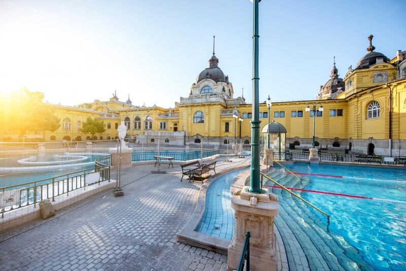 bagni termali di Széchenyi budapest piscine all'aperto