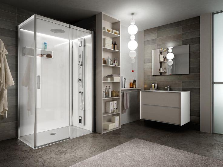 Come arredare un bagno di lusso doccia rubinetteria soffione design specchio mobile bango