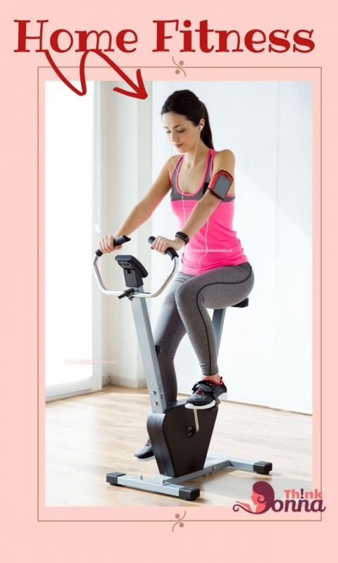 home fitness bella donna usa cyclette a casa
