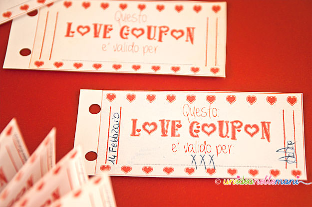 Regali San Valentino per lei e per lui originali, economici e fai da te love coupon fai da te