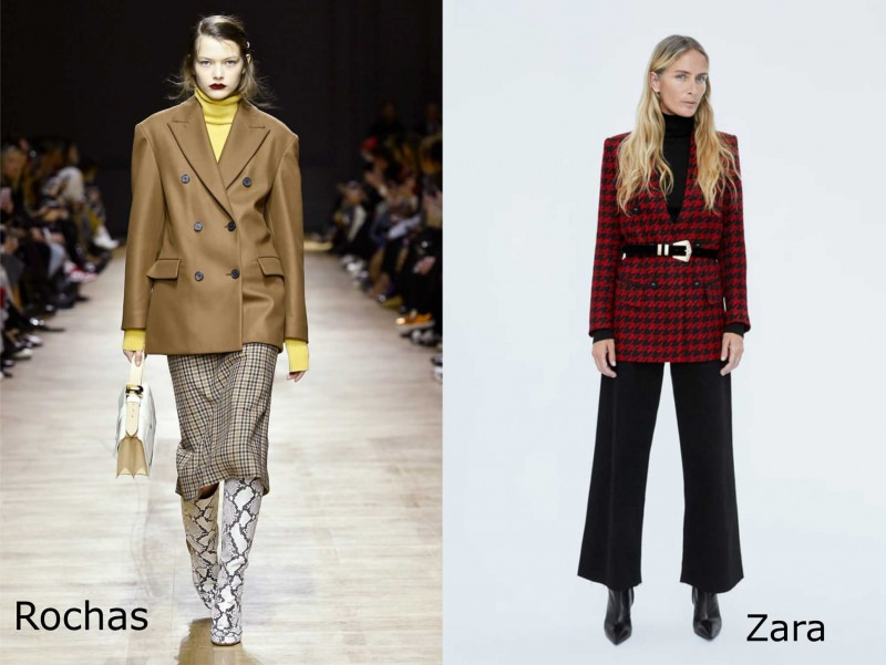 Moda cosa comprare per rinnovare il guardaroba autunno inverno giacca blazer donna Rochas Zara pied de poule rosso nero