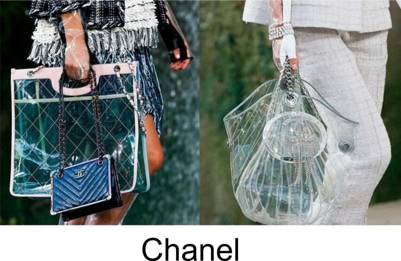 Gli accessori moda, le tendenze principali della prossima stagione Quale sarà la borsa più alla moda nella primavera-estate 2018? Sfilata Chanel borse trasparenti transparent shopping bag