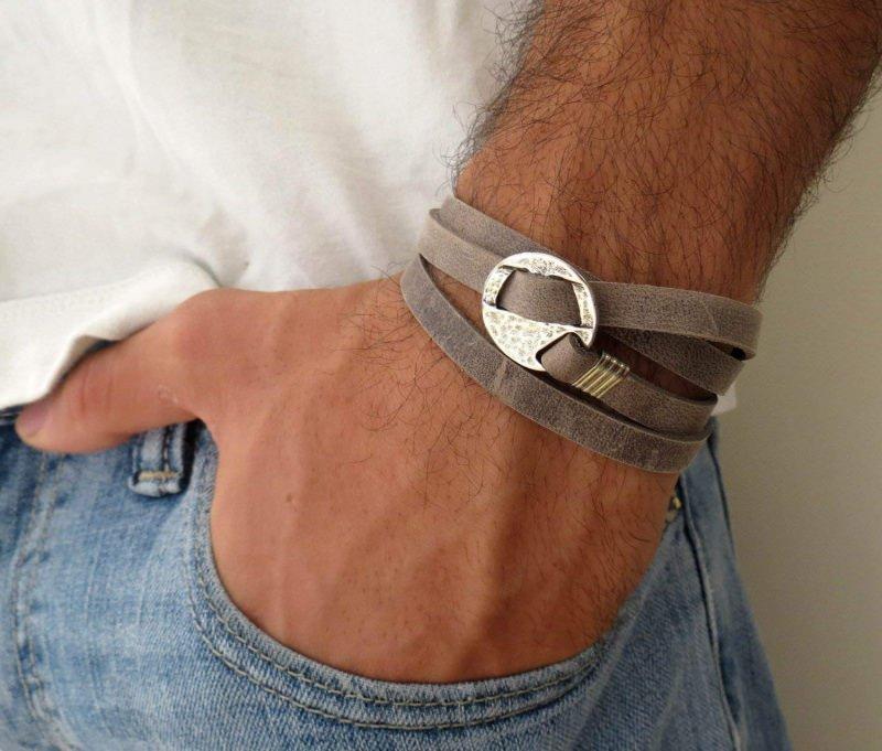 come Scegliere i bracciali da uomo cuoio jeans denim