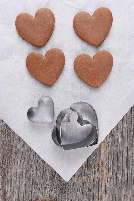 brownies al cioccolato a forma di cuore formine taglia pasta