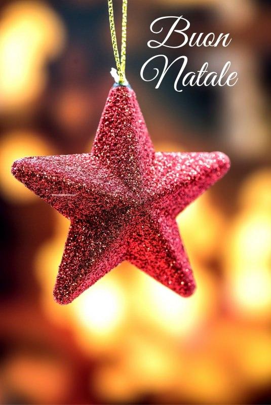 stella glitter pendente Albero di Natale auguri