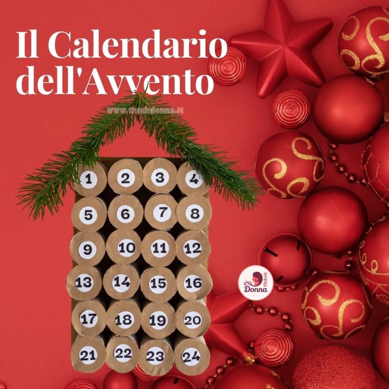 calendario avvento natale forma albero numeri decorazioni natalizie rosso