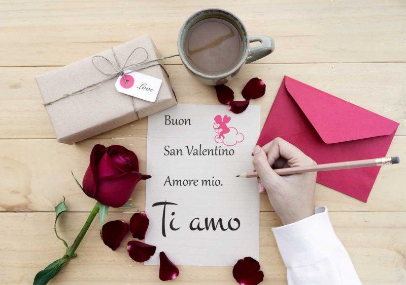 biglietto amore buon san valentino ti amo rosa rossa regalo love