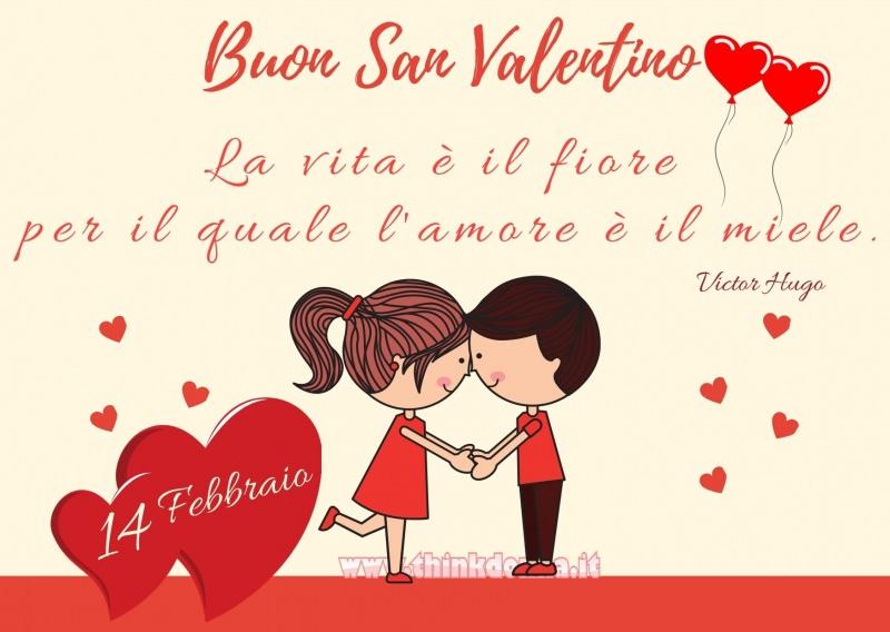 14 febbraio biglietto buon san valentino frase victor hugo