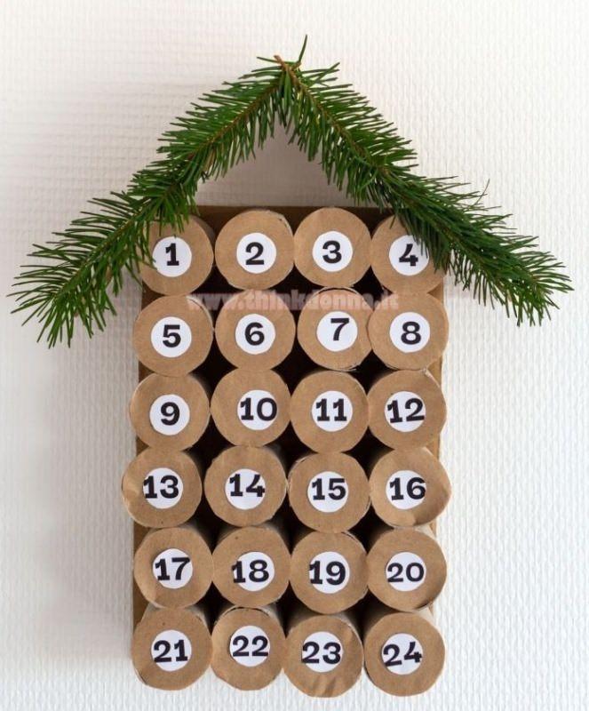 calendario avvento numeri tutorial forma albero ramo abete finto