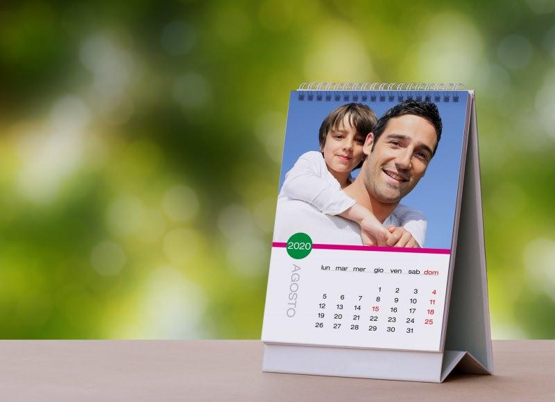 calendario da tavolo persoanlizzato foto