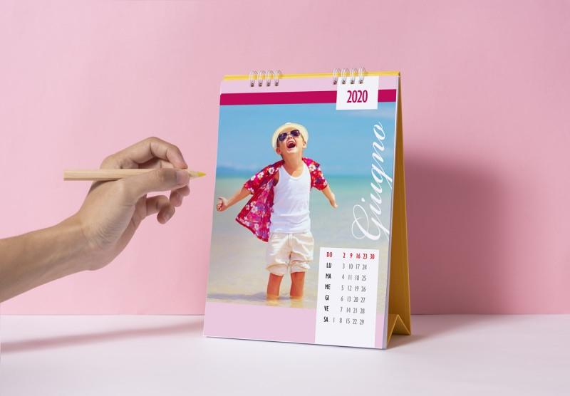 calendario da tavolo personalizzato foto