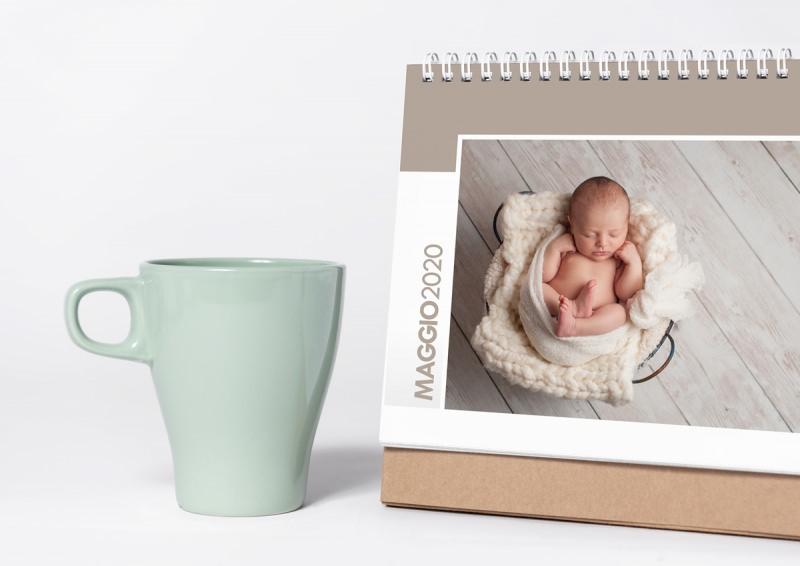 calendario personalizzato foto bebè neonato tazza caffè