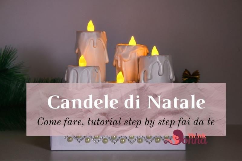 candele di Natale bianche finte fai da te tea light decorazione natalizia