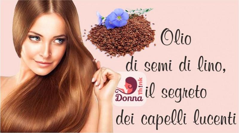 Olio di semi di lino, il segreto dei capelli lucenti bellezza viso donna bellissima occhi azzurri capelli lisci belli ramati rossi fiori semi di lino azzurro
