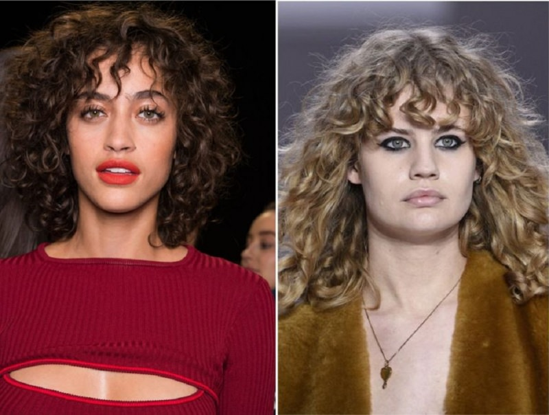 Come porti i capelli  Tendenza moda autunno inverno 2017 - 2018 capelli  ricci al naturale 0d457e563e97