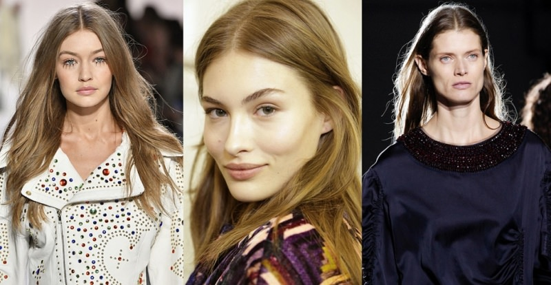 Come porti i capelli  Tendenza moda autunno inverno 2017 - 2018 capelli al  naturale lisci 5decc97698f9