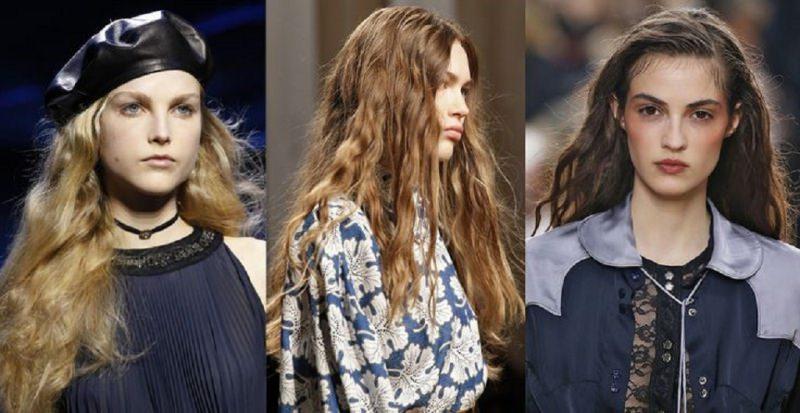 Come porti i capelli  Tendenza moda autunno inverno 2017 - 2018 viso donna  modelle passerella b54c2eb87e41