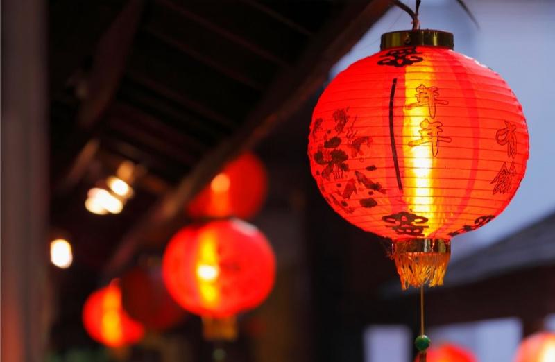 capodanno cinese lanterne rosse