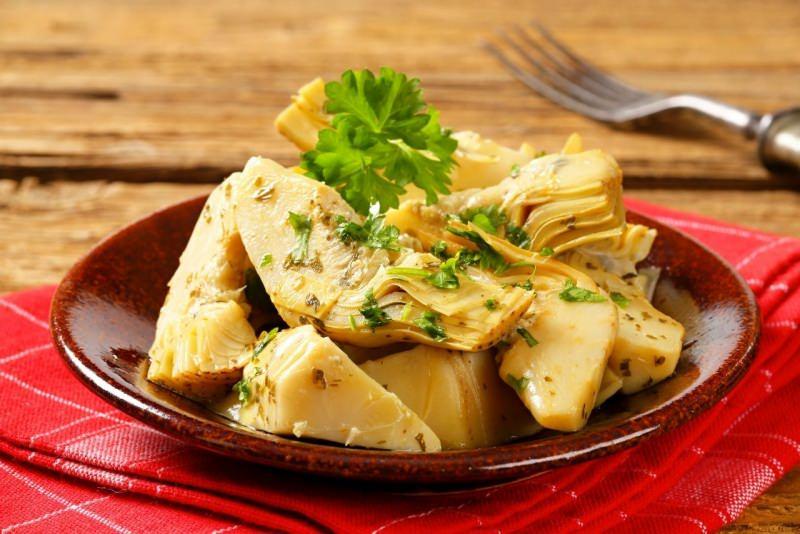 carciofi trifolati piatto pronto tavola antipasto