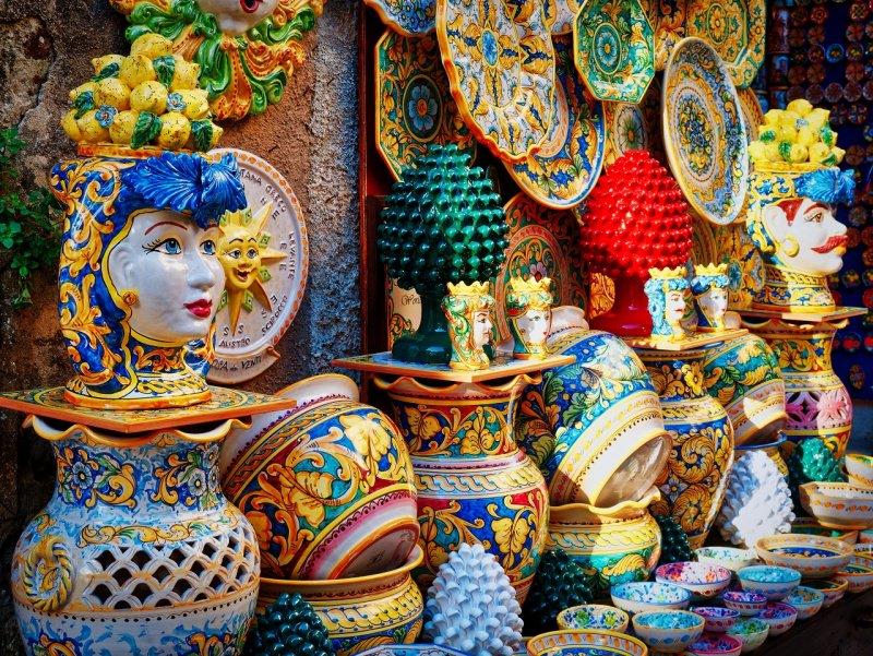 ceramice artigianali siciliane piatti vasi