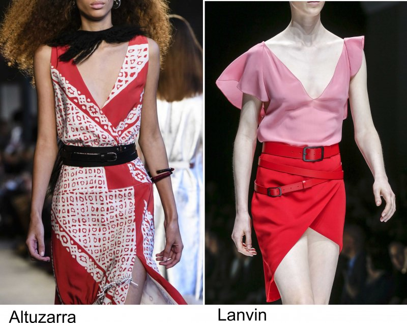 Gli accessori moda, le tendenze principali della prossima stagione primavera estate 2018 cinture Altuzarra Lanvin