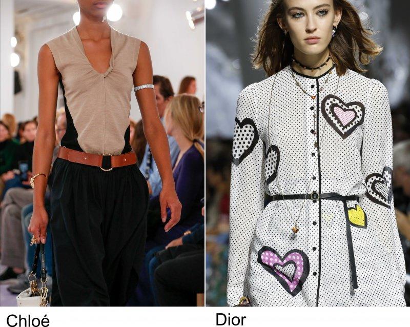 Gli accessori moda, le tendenze principali della prossima stagione primavera estate 2018 cinture Chloe Dior