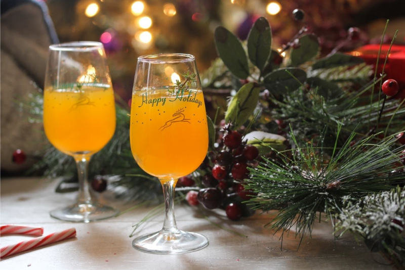 calici cocktail christmas clementine arancione luci Natale