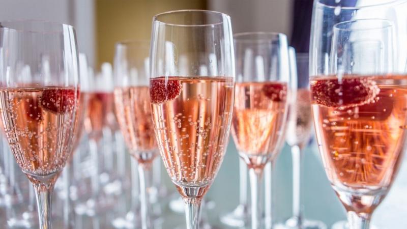 flute bicchieri champagne lampone