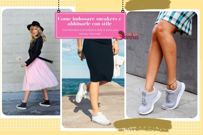 come indossare sneakers con stile gonna tulle rosa rock tubino nero mare scarpe comode